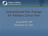 Interventional Pain Therapy for Palliative Cancer Pain